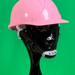 Pink Helmet with Chin Strap