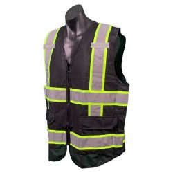 Green and Black Safety Vest